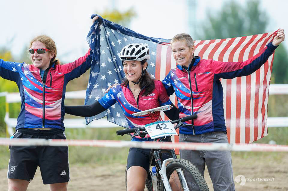 US MTBO Team members celebrate