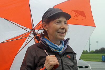 Race director Peggy Dickison